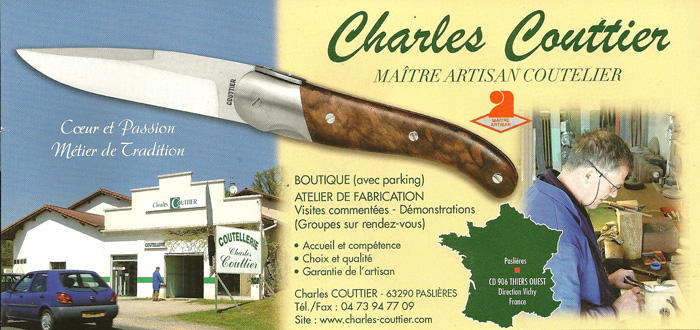 Charles Couttier 04 73 94 77 09