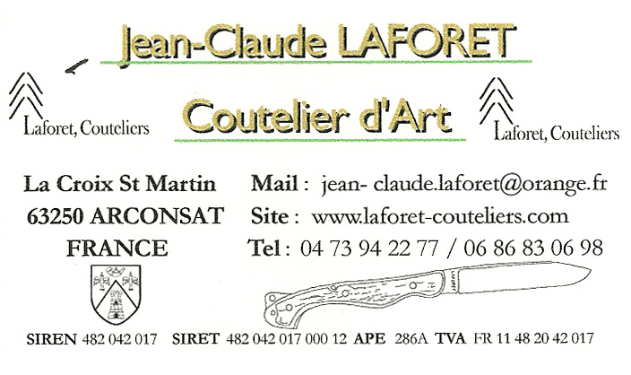 Couteliers Laforet 04 73 94 22 77